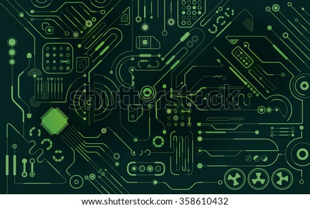 graphic of technological theme