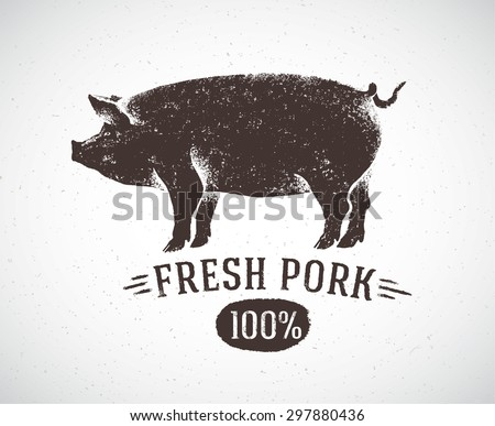 graphic pig and labeled