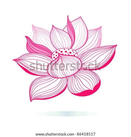 Pink Lotus Drawing Graphic Pink Lotus