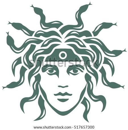 graphic portrait of the gorgon