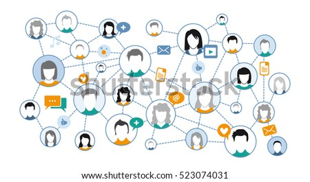 graphic representation Social media Network