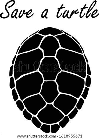 graphic sea turtle,vector illustration of sea turtle,vector of turtle design on a white background,save a turtle.