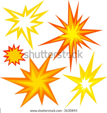Explosion Vector Graphic Graphic selection of flashes,