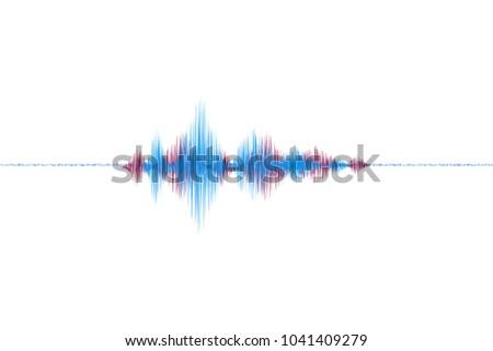graphic sound waves.