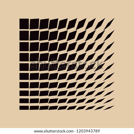 graphic squares wave pattern in ivory black