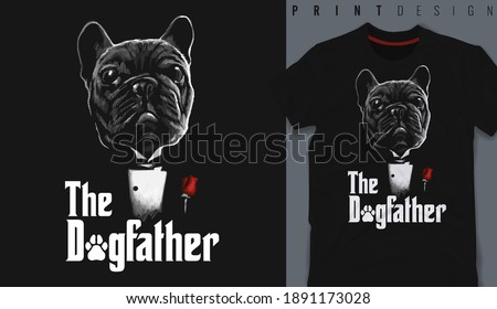 Graphic t-shirt design, typography slogan with cartoon dog  ,vector illustration for t-shirt. Stock photo ©