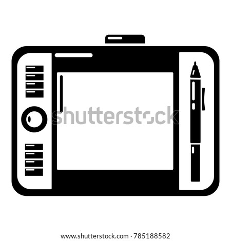 graphic tablet icon simple
