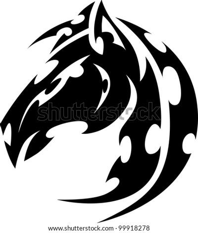 Tribal Mustang Tattoo Graphic Tribal Tattoo
