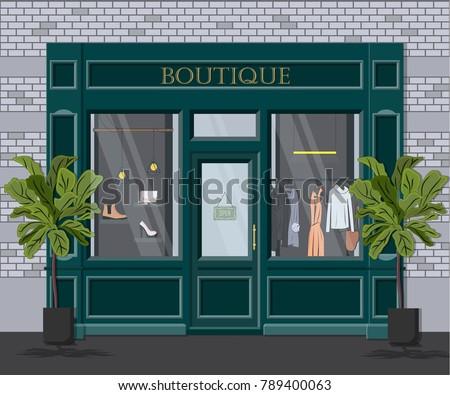 graphic vector facade vintage...