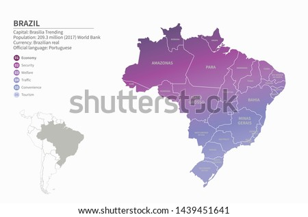 graphic vector of brazil map