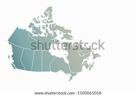 graphic vector of canada map. north america map.