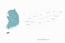 graphic vector of jeju island map. south korea map. jejudo.