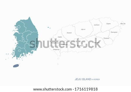 graphic vector of jeju island map. south korea map. jejudo.