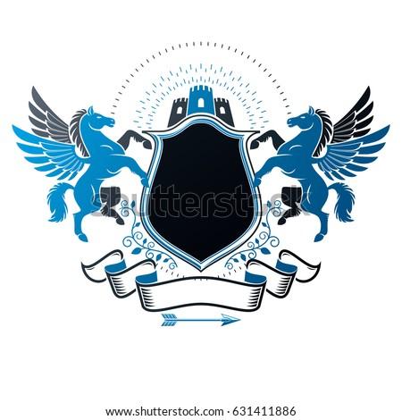 graphic vintage emblem with...