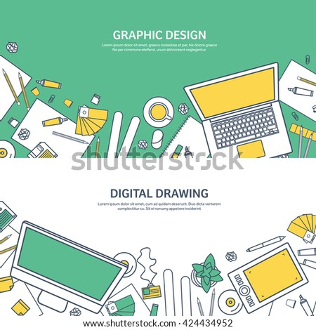 graphic web design illustration