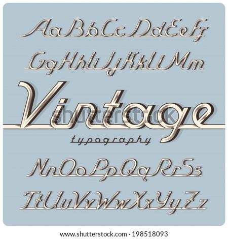 graphical ink vintage font