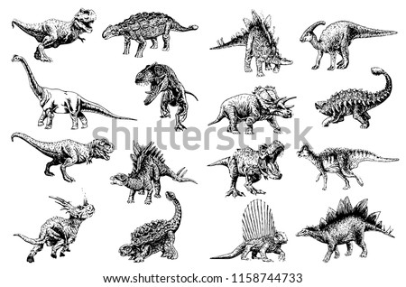 graphical set of dinosaurs