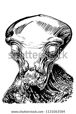 graphical sketch of alien