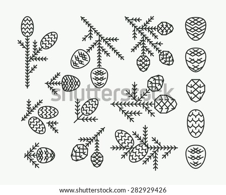pine cones color books pine cones logo vector download free vector art stock graphics