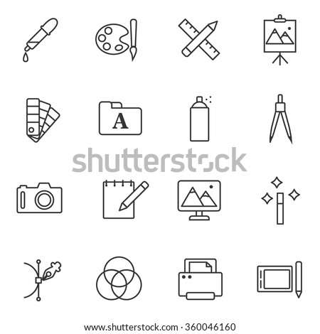 graphics and design icons set