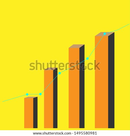Graphs and graphs in a yellow background.