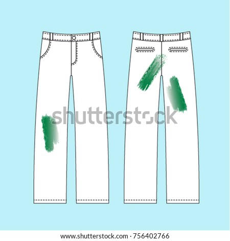 grass blot on white trousers