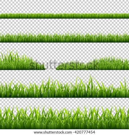 grass borders set  isolated on