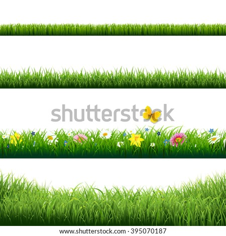 grass borders set with gradient