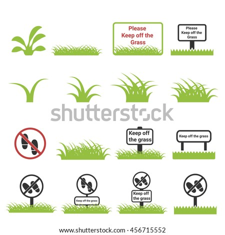 grass icon   keep off the grass