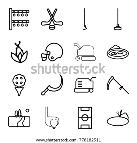 grass icons set of 16 editable