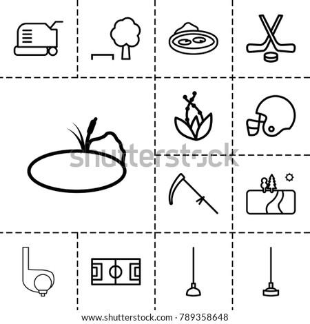 grass icons set of 13 editable
