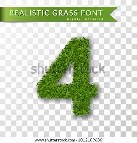 grass number four green number