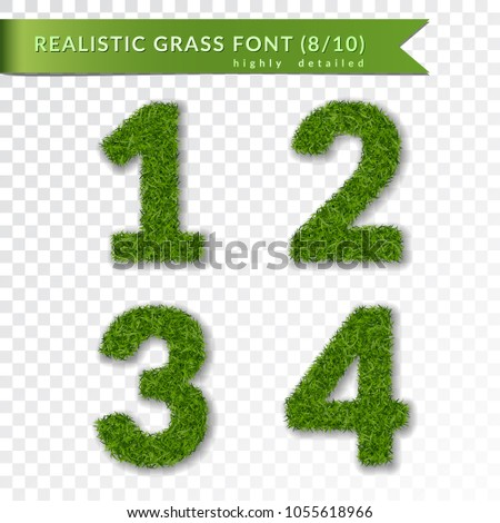 grass numbers 1 2 3 4 green