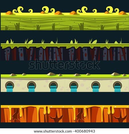grass platformer level floor