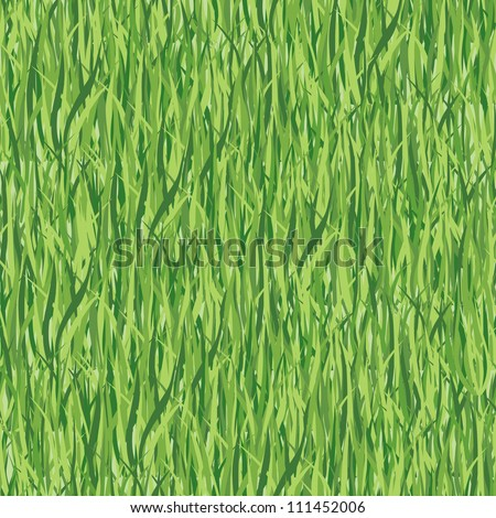 grass seamless floral vector pattern.  lawn seamless background