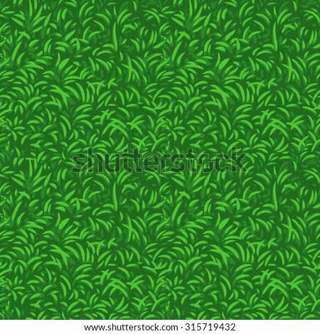 grass seamless vector pattern