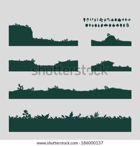 grass vector format