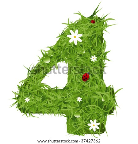 grass vector number four