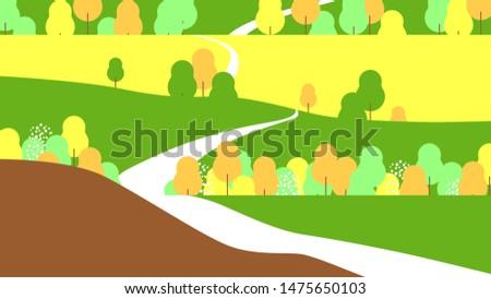 grassland landscape  long road