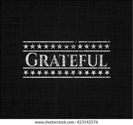 Grateful chalkboard emblem