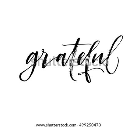 grateful hand drawn postcard