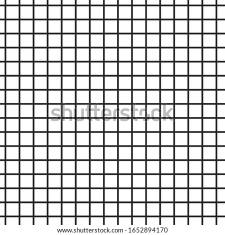 Grating, lattice seamless pattern. Abstract mosaic grid, mesh background with square shapes. Seamlessly repeatable. Simple repeat design for decor, textile, fabric, furniture. Black and white version.