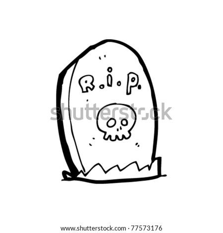 grave cartoon