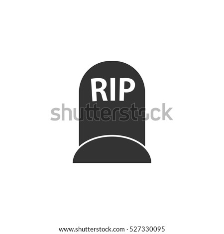 grave icon flat illustration