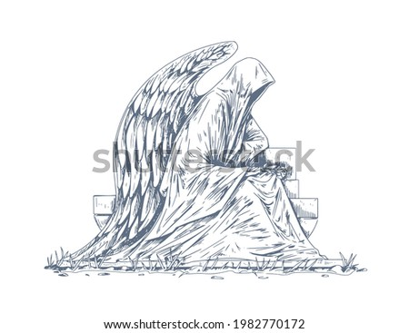 gravestone of grave with stone