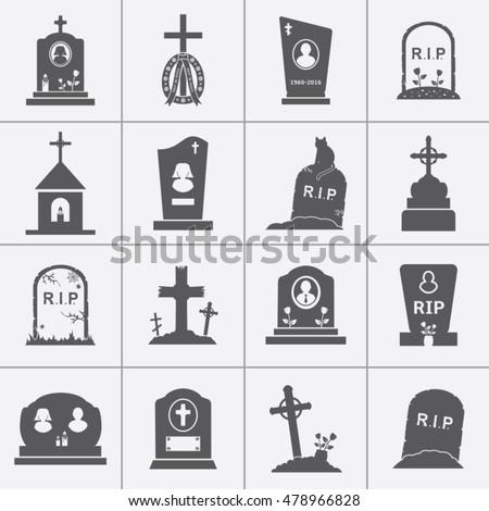 gravestones and tombstones