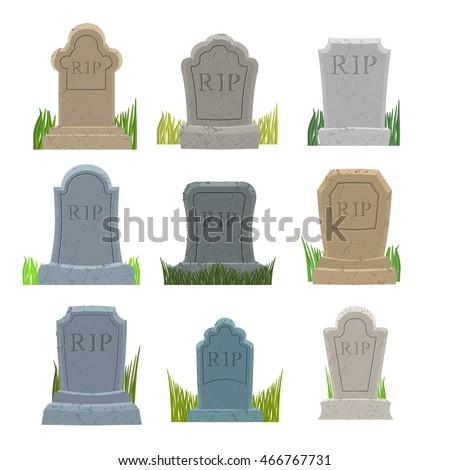 gravestones set old tomb