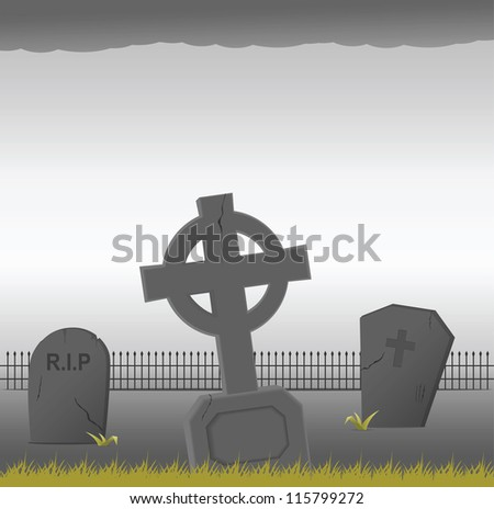 Gravestones. Vector illustration