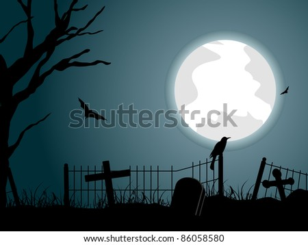 graveyard background with dry