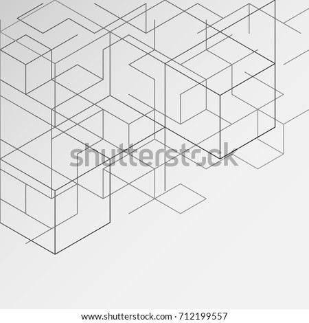 gray abstract background, modern digital illustrations, business lines and creativity, as well as presentations. , Hexagonal geometric pattern ,vector illustration